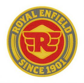 Royal Enfield logo machine embroidery design