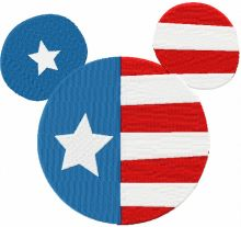 Patriotic Mickey Mouse
