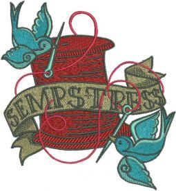 Sempstress embroidery design