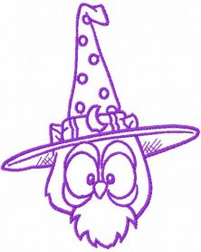 Halloween violet owl free embroidery design