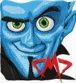 Megamind embroidery design