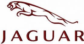 Jaguar logo machine embroidery design