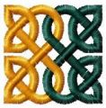 Celtic pattern embroidery design