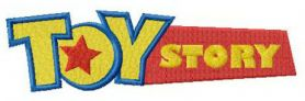 Toy Story logo machine embroidery design