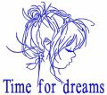 Time for dreams free embroidery design