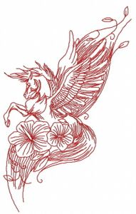 Pegasus with flowers 2