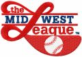 Minor League Baseball*s Midwest League logo embroidery design