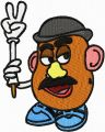 Mr Potato Head  embroidery design