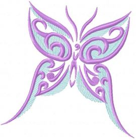 Violet butterfly free embroidery design