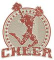 Cheer embroidery design