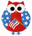 American owl embroidery design