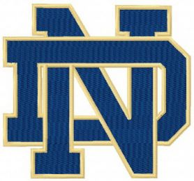 Notre Dame Fighting Irish primary logo machine embroidery design