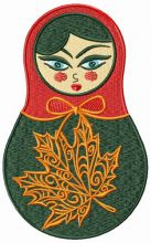 Autumn matryoshka doll