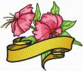 Hibiscus flower free machine embroidery design