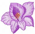 Violet flower 41 embroidery design