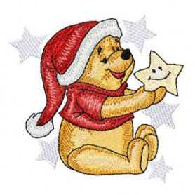 Winnie Pooh Before Christmas machine embroidery design