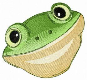 Tyler's tree frog machine embroidery design