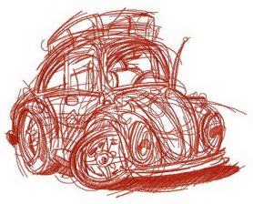 My lovely automobile machine embroidery design