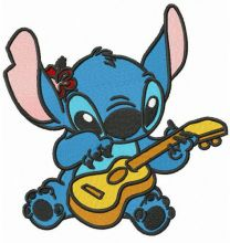 Stitch playing guitar