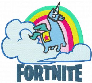 Fontnite unicorn and rainbow