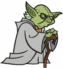 Yoda Thinks machine embroidery design