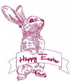 Happy Easter 2 machine embroidery design