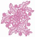 Lace flower 8 embroidery design