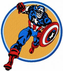 Captain America attack machine embroidery design
