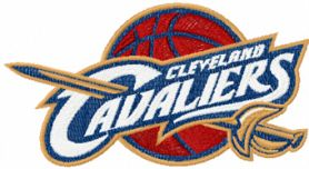 Cleveland Cavaliers logo machine embroidery design