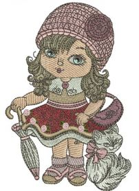Young fashion-monger machine embroidery design