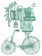 Book shelves and bike sketch