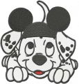 Mickey hat for puppy  embroidery design