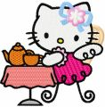 Hello Kitty Tea Party embroidery design