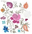 Flower composition embroidery design