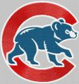 Chicago Cubs logo embroidery design