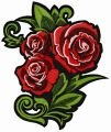 Bouquet of roses embroidery design