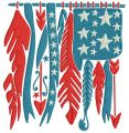 Native American curtains embroidery design