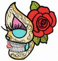 Dead beauty 6 embroidery design