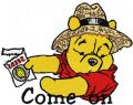 Winnie Pooh Come on embroidery design