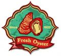 Fresh oyster logo embroidery design