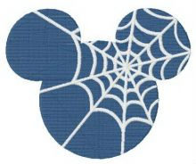 Mickey's silhouette with spider web