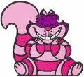 Cute cheshire cat embroidery design