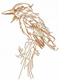 Woodpecker free embroidery design