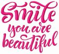 Smile you are beautiful 2 embroidery design
