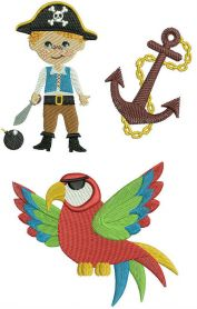 Pirate set 2 machine embroidery design