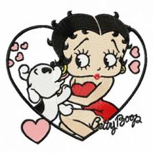 Betty Boop with dog