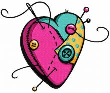 Sewing heart