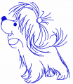 Blue dog free embroidery design
