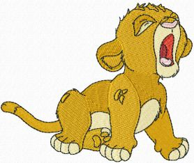 Simba can sleep machine embroidery design