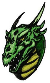 Valley dragon 2 machine embroidery design